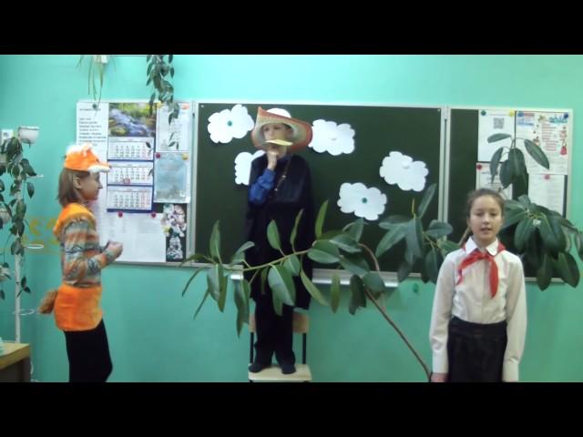 Изображение предпросмотра прочтения – «Школа №6» читает произведение «Ворона и Лисица» И.А.Крылова