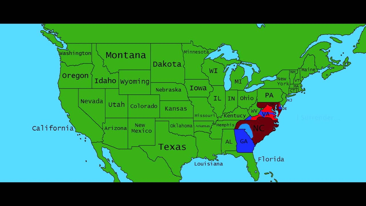 Alternate Future Of The USA Episode A New World YouTube - Usa map memphis