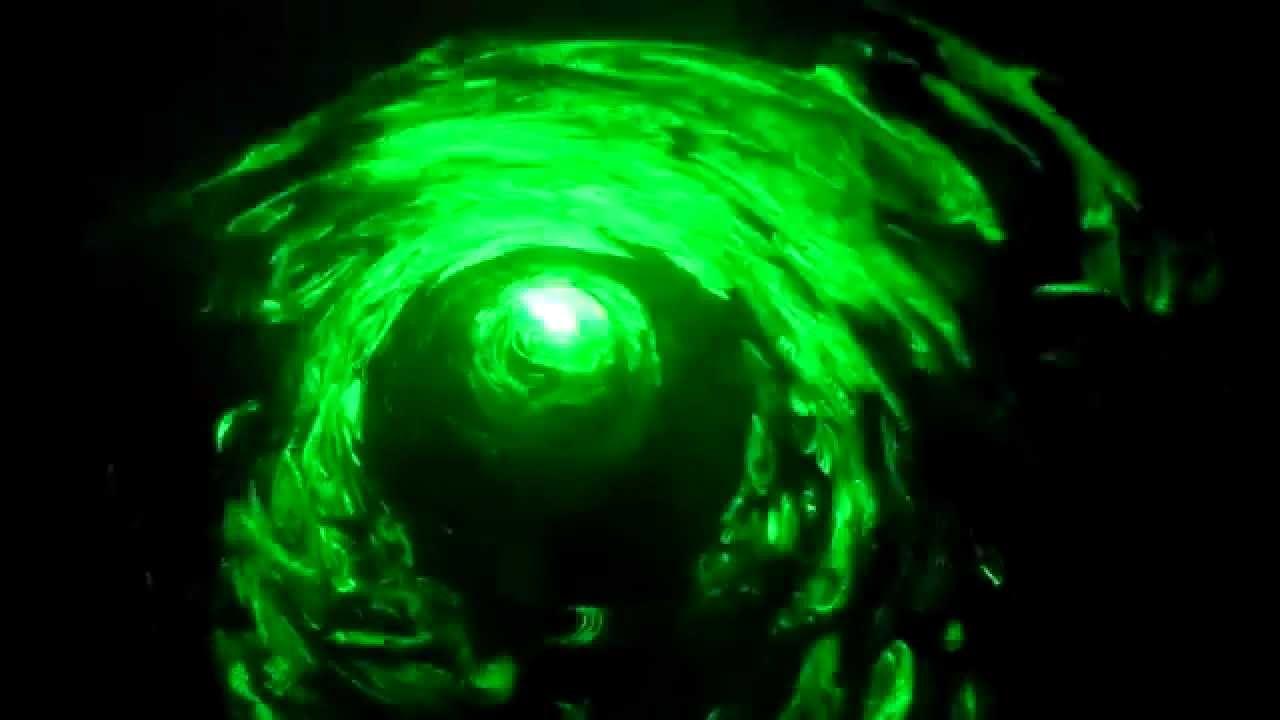 200mw laser vortex tunnel home made  YouTube