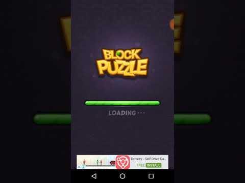 Playing block jewel puzzle.