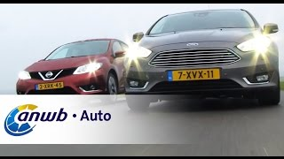Nissan Pulsar vs Ford Focus dubbeltest - ANWB Auto