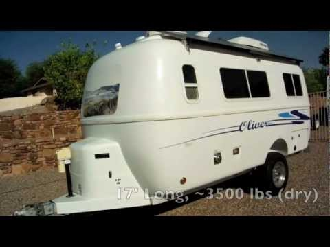 Oliver Travel Trailer Tour - Solar Powered Fiberglass Egg - YouTube