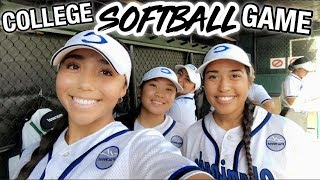 DAY IN THE LIFE: COLLEGE SOFTBALL GAME