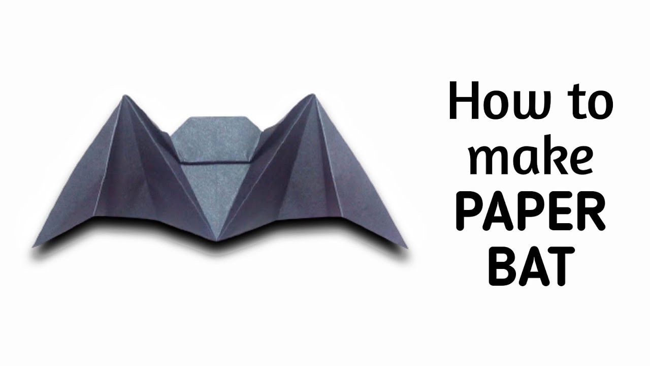 Papercraft How to make an origami paper bat | Origami / Paper Folding Craft, Videos and Tutorials.