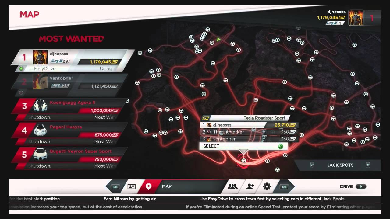 ALL JACK SPOTS LOCATION GUIDE Need For Speed Most Wanted NFS01HD