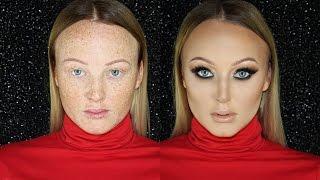 glam smokey eye client makeup tutorial full coverage