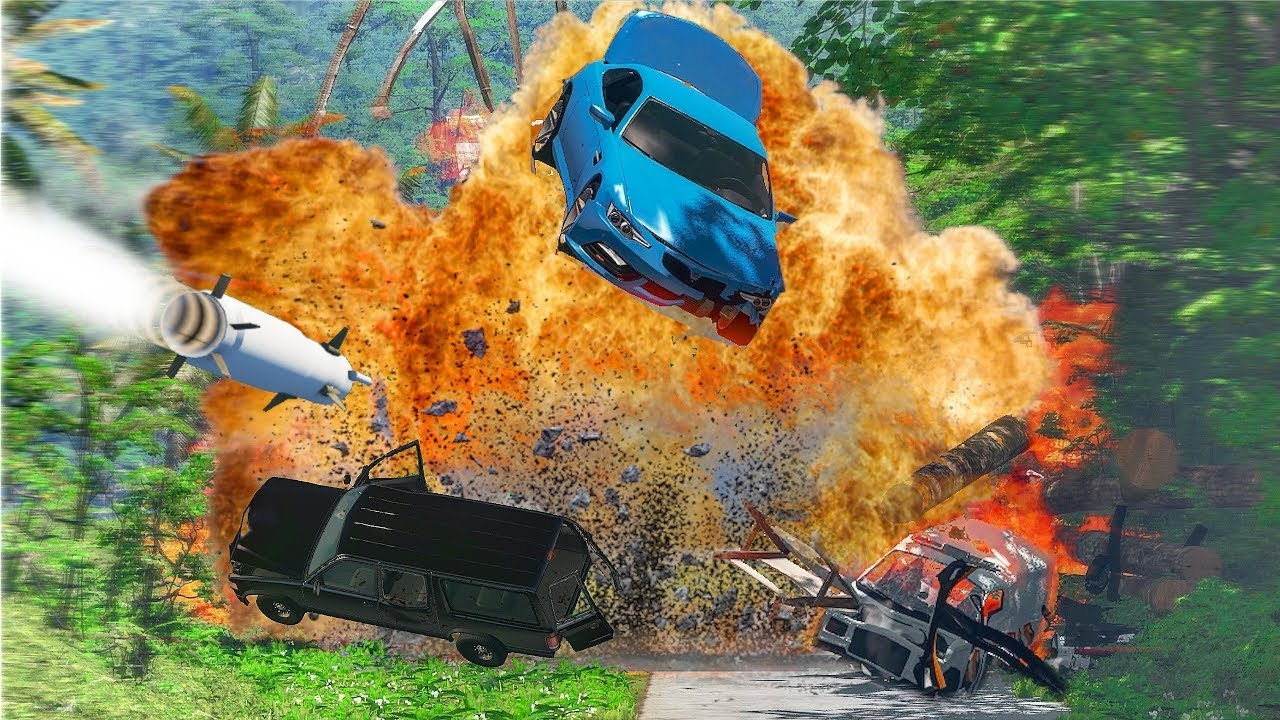 UNDER ATTACK │ Extreme BeamNG Drive Car Chase