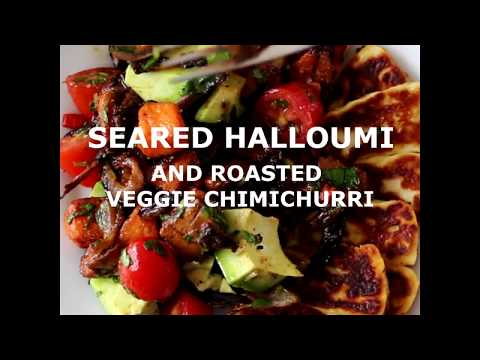 Seared Halloumi Cheese Recipe with Roasted Veggies from HelloFresh Canada