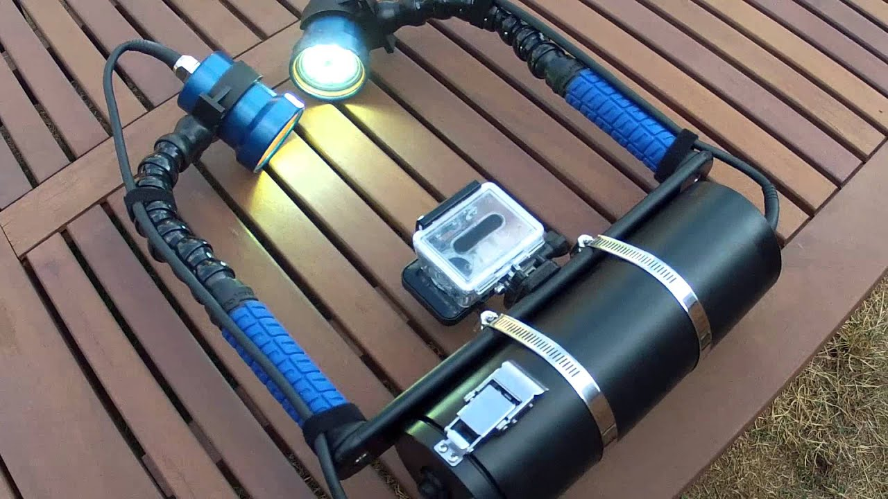 Dual Underwater Led Video Lights For Gopro And Other