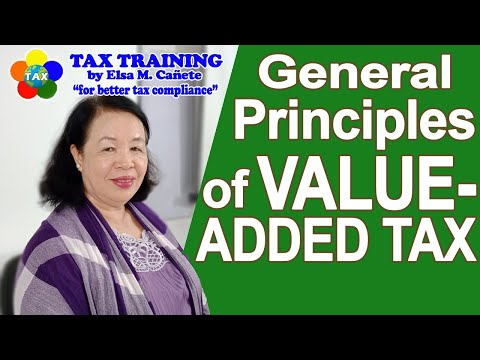 General Principles Of Value Added Tax