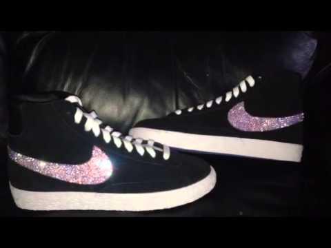 Swarovski crystal nike blazers - YouTube 7bb1801ab