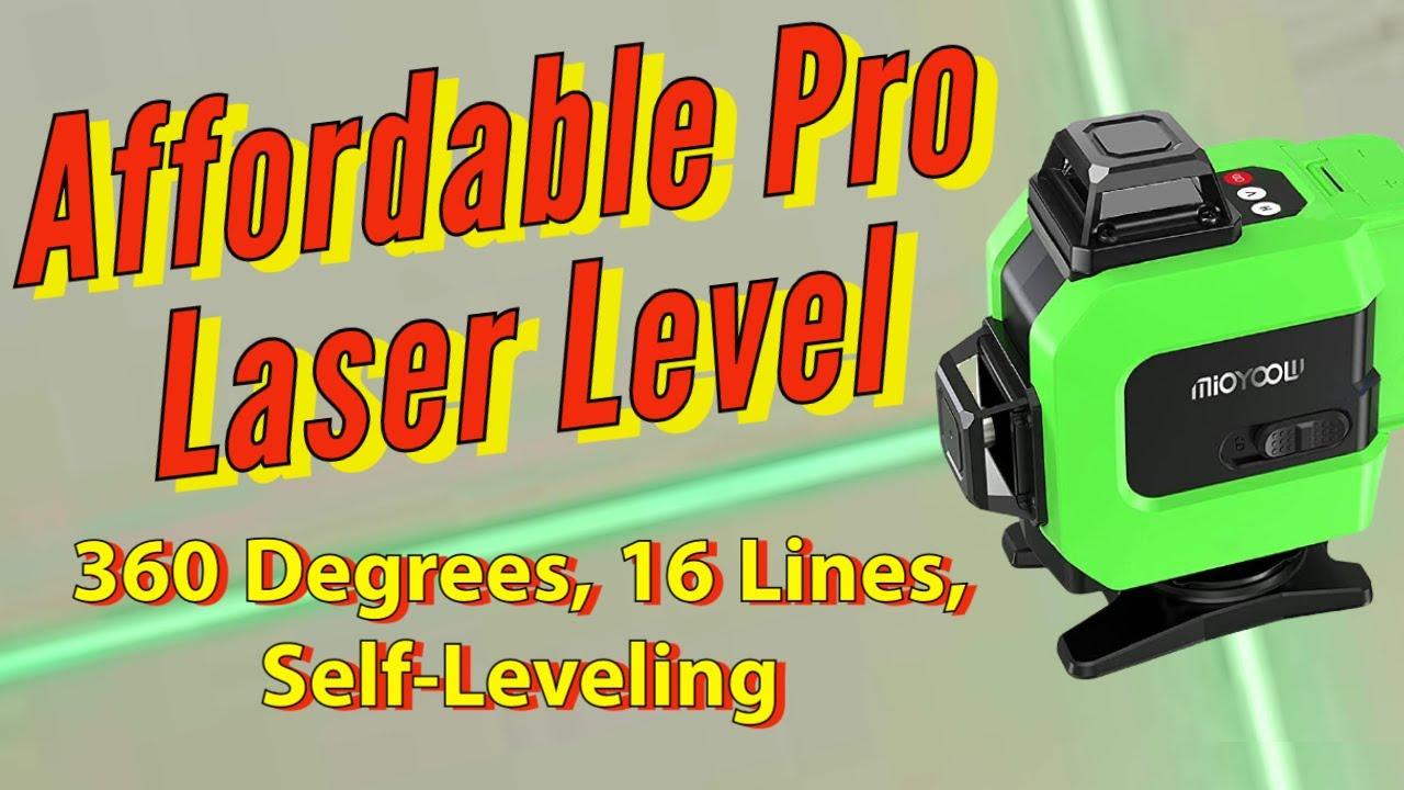 Affordable Self Leveling Laser Level 360 Degrees 16 Lines Laser Level Review Setup and Demonstration