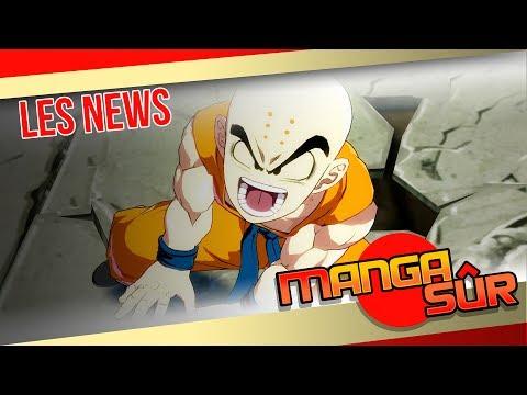 Sorties mangas, marathon d'animes sur Twitch, Krillin dans DB FighterZ... Les news [Ep37#1]