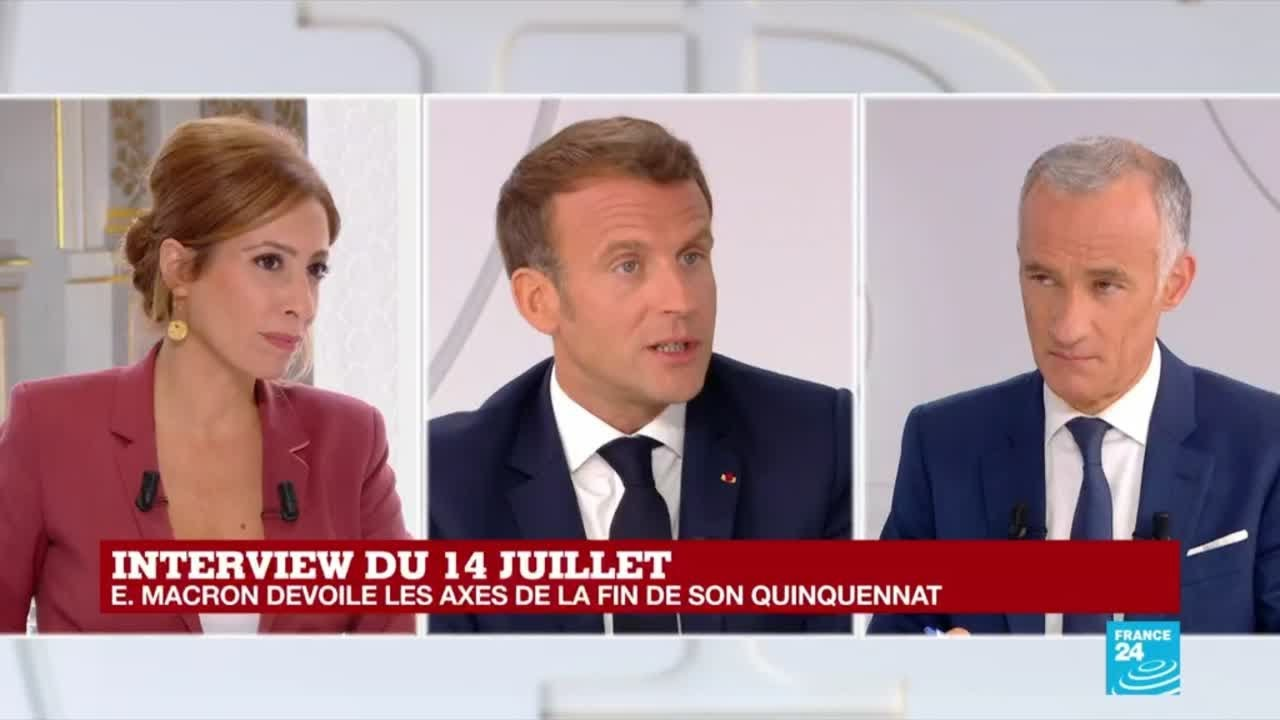 Replay Interview Du 14 Juillet Emmanuel Macron Devoile Les Axes De La Fin De Son Quinquennat Youtube