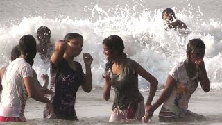 Beautiful sea bath in Digha sea beach