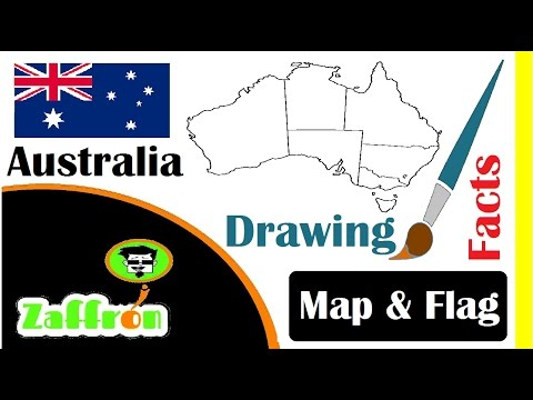 Learn Australia Country Facts, Geography, Map & Flag Drawings | حقائق أستراليا | 国の事実と地理 | zaffron