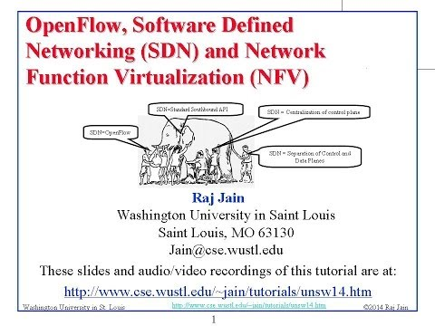 Tutorial on OpenFlow, Software Defined Networking (SDN) and Network  Function Virtualization (NFV)