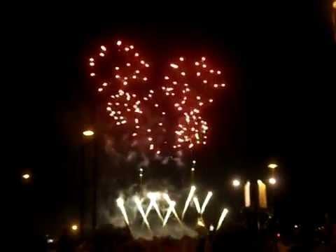 Montreal fireworks montage - Australia - July 26th, 2014