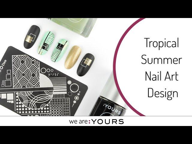 Tropical Summer Nail Art Design