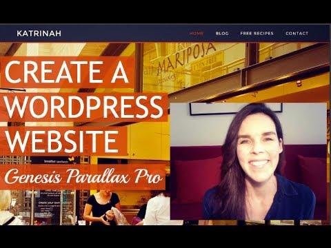 How To Make A WordPress Website (Genesis Parallax Pro) : ) - 동영상