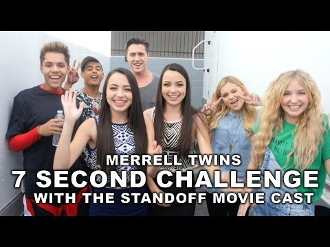 7 Second Challenge with The Standoff Movie Cast  Merrell Twins