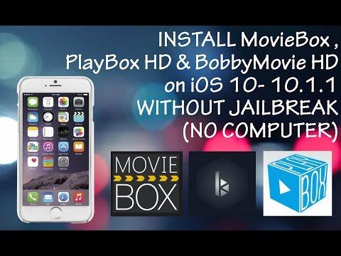 Ios 10 10 1 1 Install Bobby Hd Movie Box Playbox Hd No Jailbreak Mrtechie Official