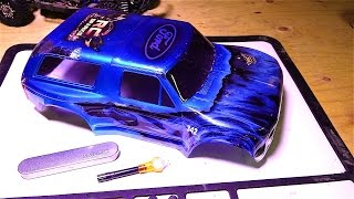 RC ADVENTURES - Repairing a Lexan body w/ Bondic Liquid Plastic Welder