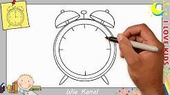 Uhr zeichnen lernen einfach schritt für schritt für anfänger & kinder 1