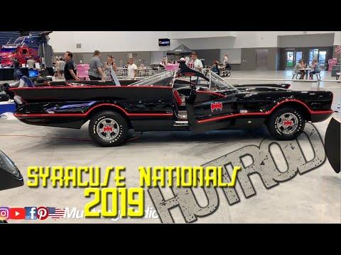 The BatCar, BatMan and BatGirl at the Syracuse Nationals 2019