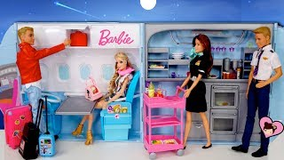 Barbie & Ken Airplane Travel in  Barbie Party Plane & Cruise Ship Toy
