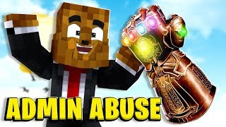 *Thanos Infinity Gauntlet* Nuclear Admin Abuse - Minecraft Modded Minigames | JeromeASF