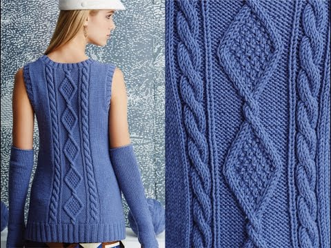 6 Cabled Shell With Arm Warmers Vogue Knitting Fall 2014 Youtube