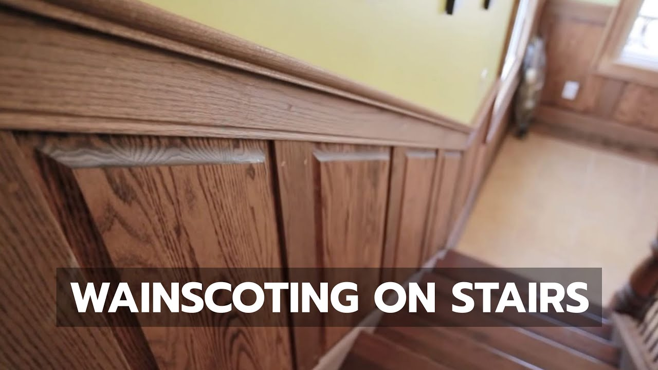 Wainscoting See How It S Done On Stairs Youtube