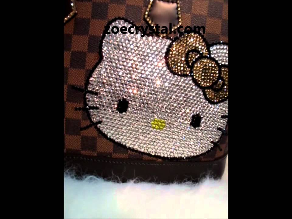 42aaa425532c LV Alma bag 35 with bling bling hello kitty - YouTube