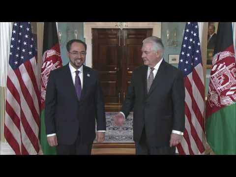 Secretary Tillerson Meets Afghanistan Foreign Minister Rabbani
