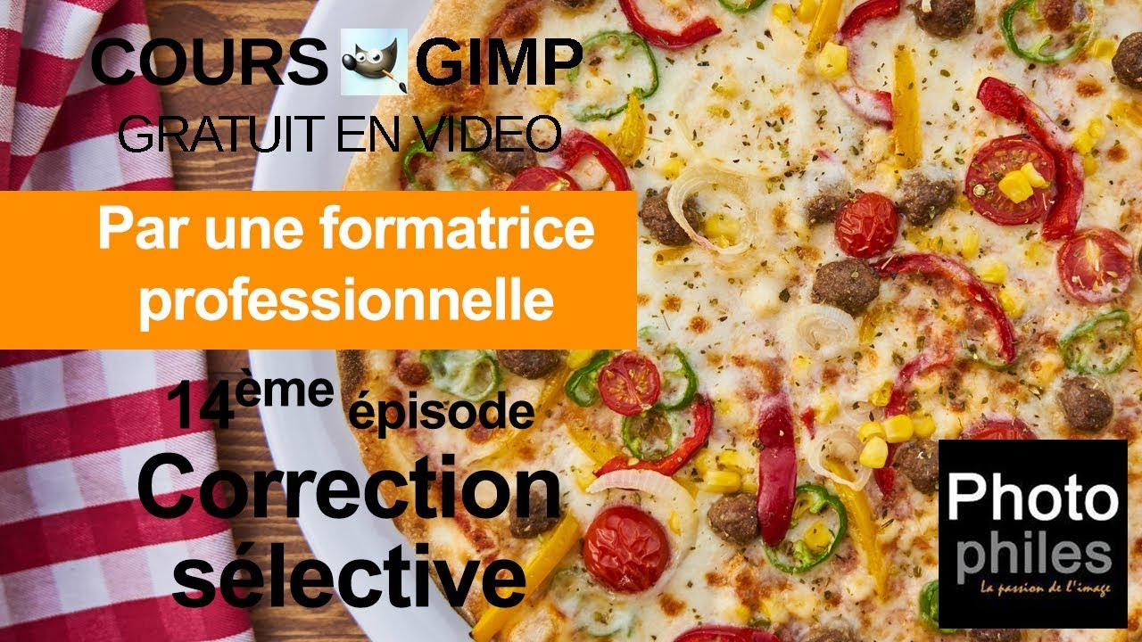 N°14 Cours GIMP : Corriger localement les couleurs