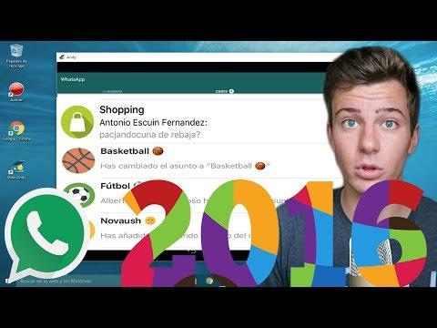 Instalar WhatsApp en PC en Windows 10, 8.1, 7  2015  2016