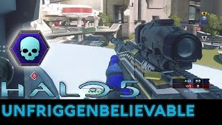 Halo 5: Guardians - 53-0 Unfriggenbelievable Warzone Gameplay with Pistol/BR/DMR/Sniper