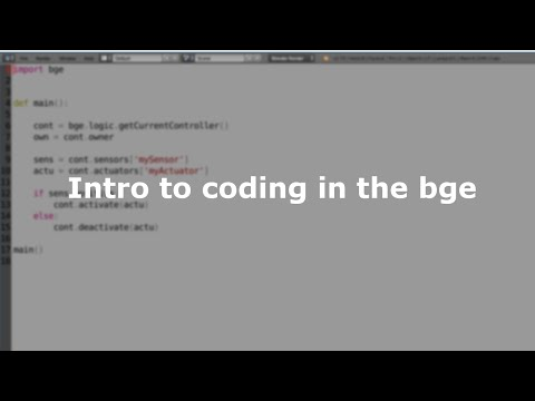 introduction to coding in the bge - BGE Tutorial