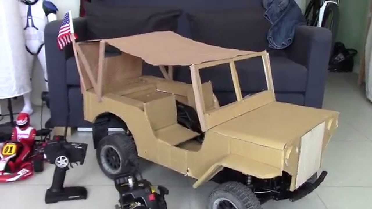Diy jeep 15 cardboard project youtube solutioingenieria Gallery