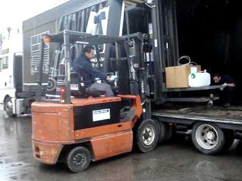 come caricare un sollevatore sul camion del trasportatore iii parte youtube. Black Bedroom Furniture Sets. Home Design Ideas