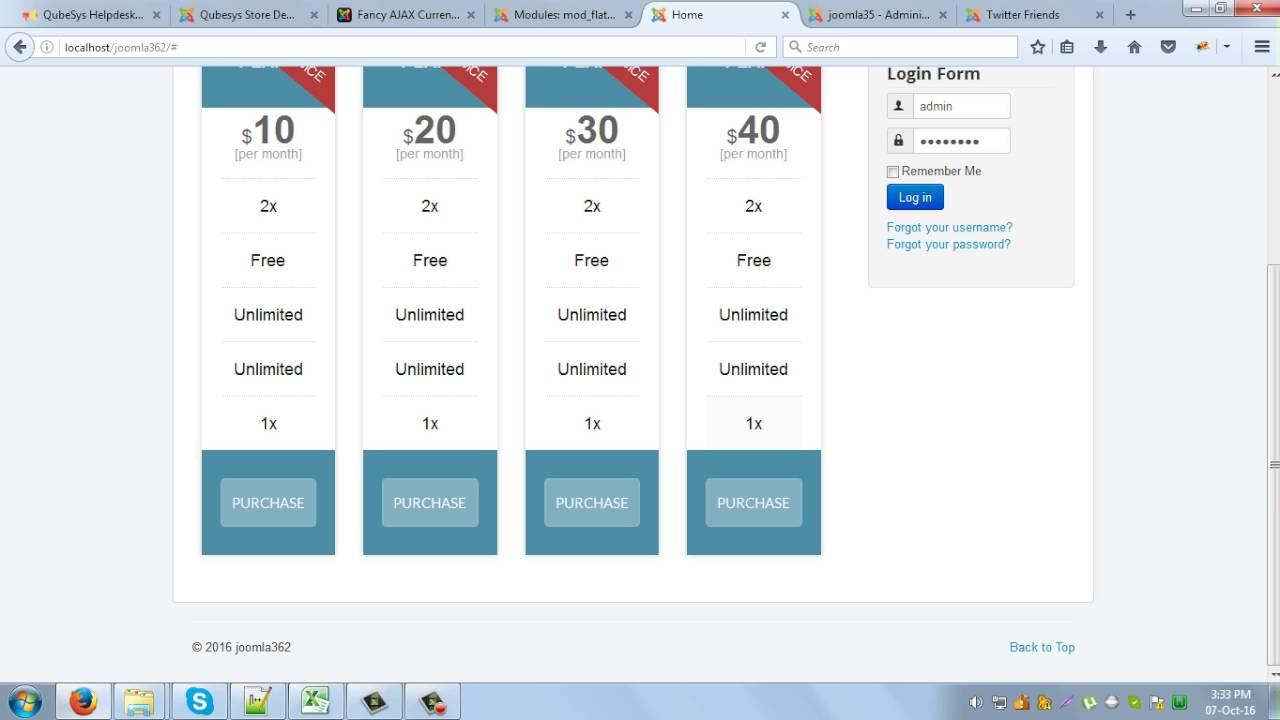 Module Flat Joomla Responsive Table Pricing L54qjcA3R
