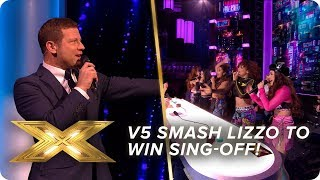 V5 smash Lizzo cover to WIN sing-off!   Live Week 3   X Factor: Celebrity
