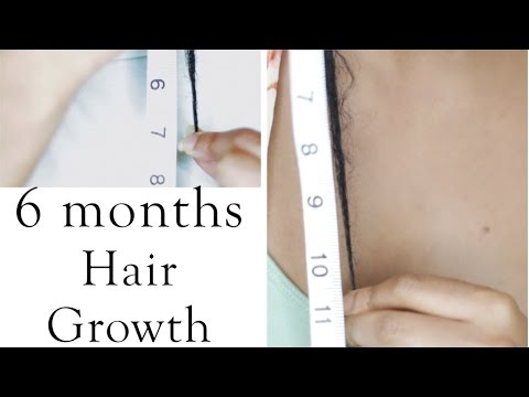 Length Check & Natural Hair Growth in 6 months