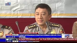 Penumpang JT-610 Tak Teridentifikasi Juga Mendapat Surat Keterangan Kematian