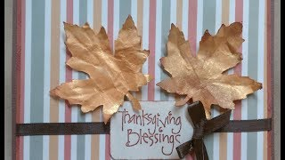 Maple Leaf Thanksgiving Card Or Table Place Card