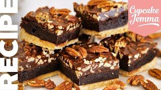 AMAZING Chocolate Pecan Pie BROWNIE!   Cupcake Jemma