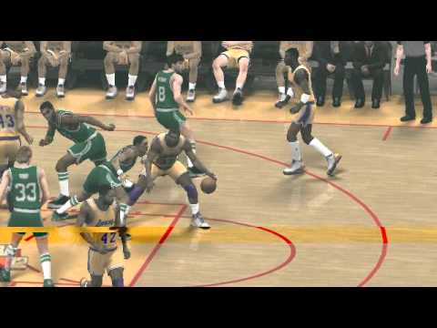 NBA 2K12 magic johnson legendary hook shot - YouTube