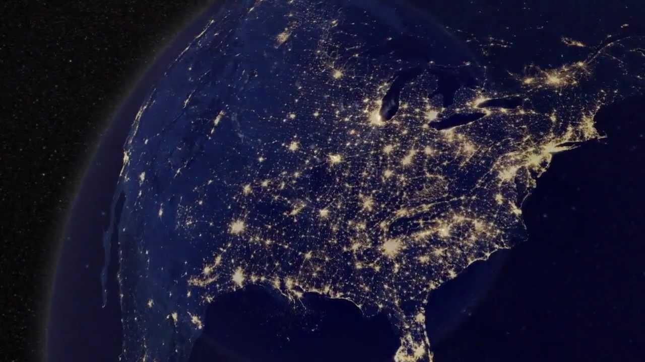 Die Erde Bei Nacht Youtube