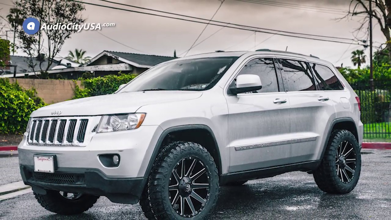2011 Jeep Grand Cherokee 20inch Fuel Wheels D616 Contra Matte Black Milled Off Road Rims Audiocity Youtube